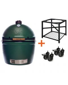 Big Green Egg 2XL incl. Egg Frame, Expansion frame met inserts & Caster Kit