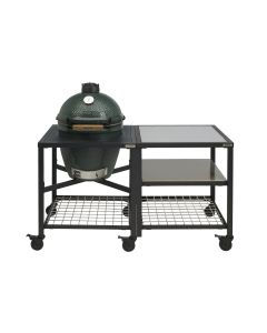Big Green Egg Medium incl. Egg Frame, Expansion Frame met Inserts & Caster Kit